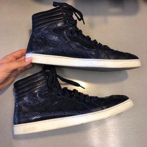 Gucci men's GG lace-up sneaker blue 224778